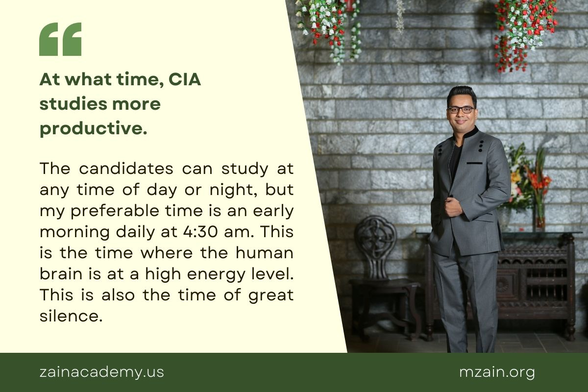 At what time CIA studies more productive